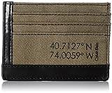 Calvin Klein Men's Calvin Klein Card Holder Wallet Canvas and Smooth Leather, black, One Size