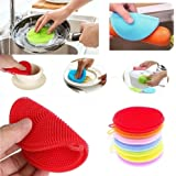 Blueis Silicone Dish Bow Washing Pads Home Kitchen Cleaning Tool Sponges