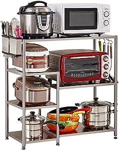 ALF Microwave storage rack Kitchen storage rack, household appliances, microwave oven rack, stainless steel multi-function rack Kitchen shelf