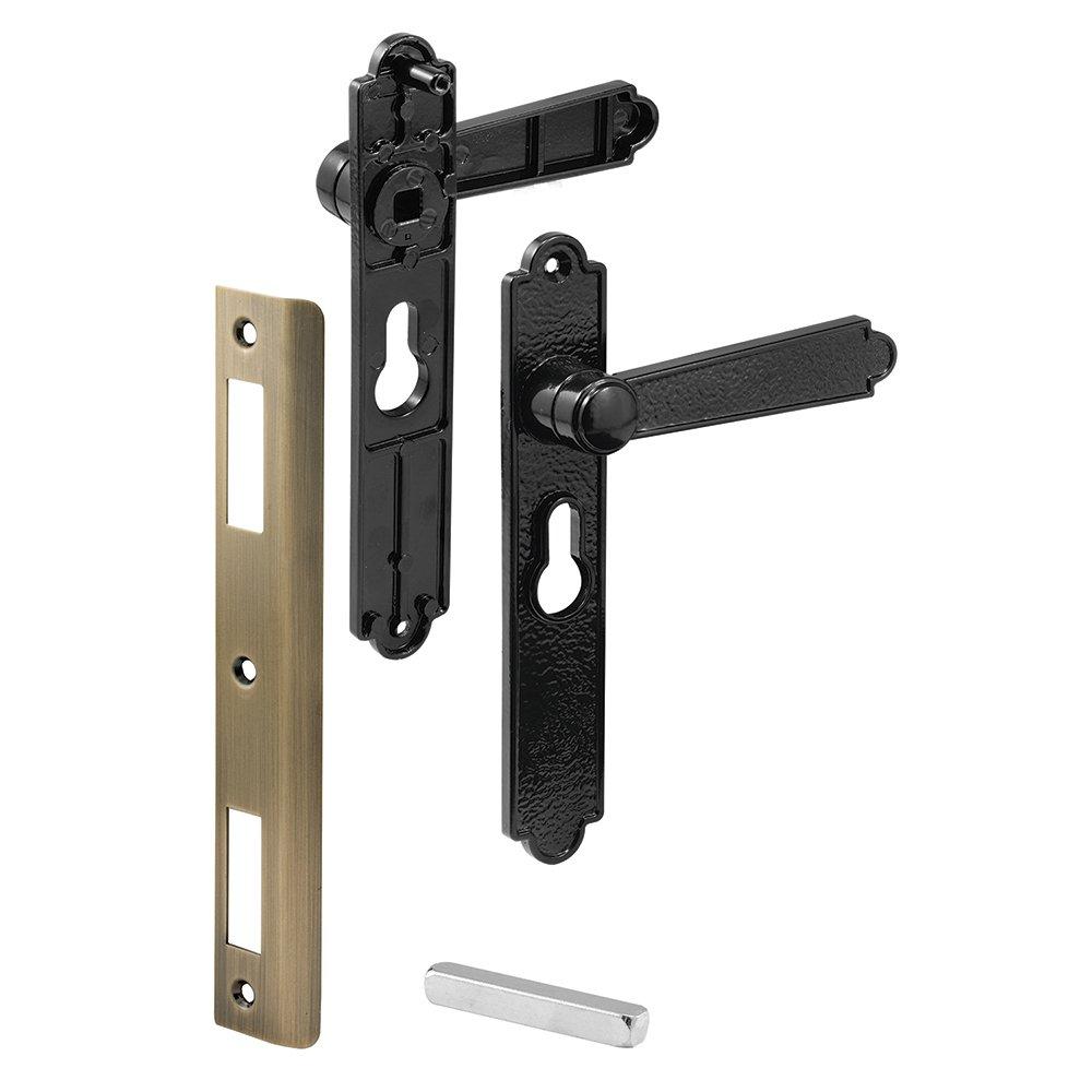 Prime-Line Products K 5063 Security Door Lever Set, Black Dimpled