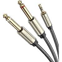 UGREEN Cable Audio 3.5mm a Doble 6.35 mm, Cable de Audio Estéreo para Mesa de Mezclas, Consola de Mezclas con Conectores…