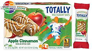Fieldstone Bakery Whole Grain Totally Apple Cinnamon Bars, Full Case of 12 Boxes, 192 Individually Wrapped Bars