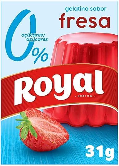 Royal Gelatina en Polvo Sabor Fresa con Vitamina C, 0 ...