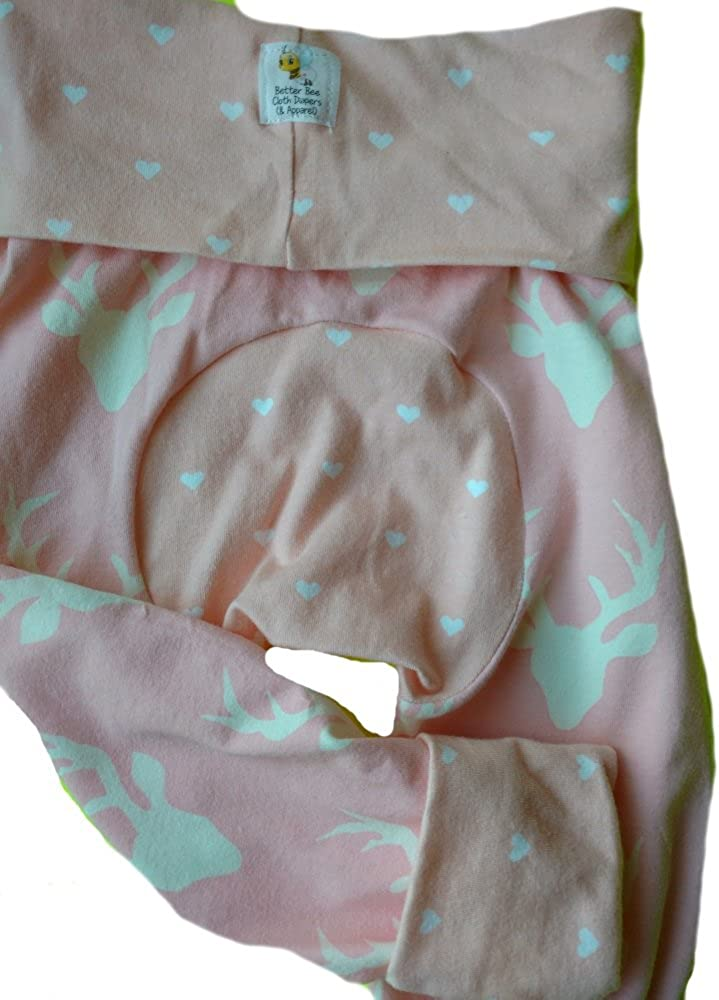 Baby /& Toddler Medium-3 Months to 3 Years Maxaloones Grow with Me Pants,Pink Deer Head