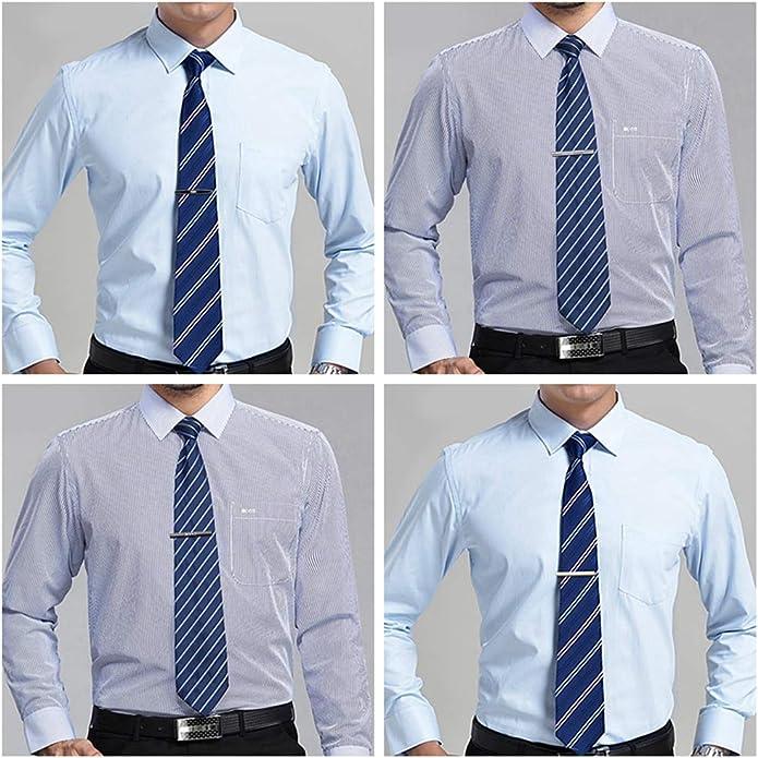 YADOCA Conjunto de Gemelos y Clips de Corbata para Hombres Corbata Clips de Barra de Corbata Camisas de Negocios Gemelos con Esmoquin de Boda con Caja Plateada Tono Dorado Negro: Amazon.es: Joyería