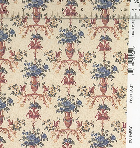 Dollhouse Miniature Eisenhart DuBarry Blue & Cream Wallpaper by Mini Graphics