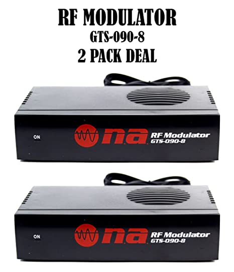 2 Pack Universal RF Modulator RCA Audio Video To Coaxial Coax F With S