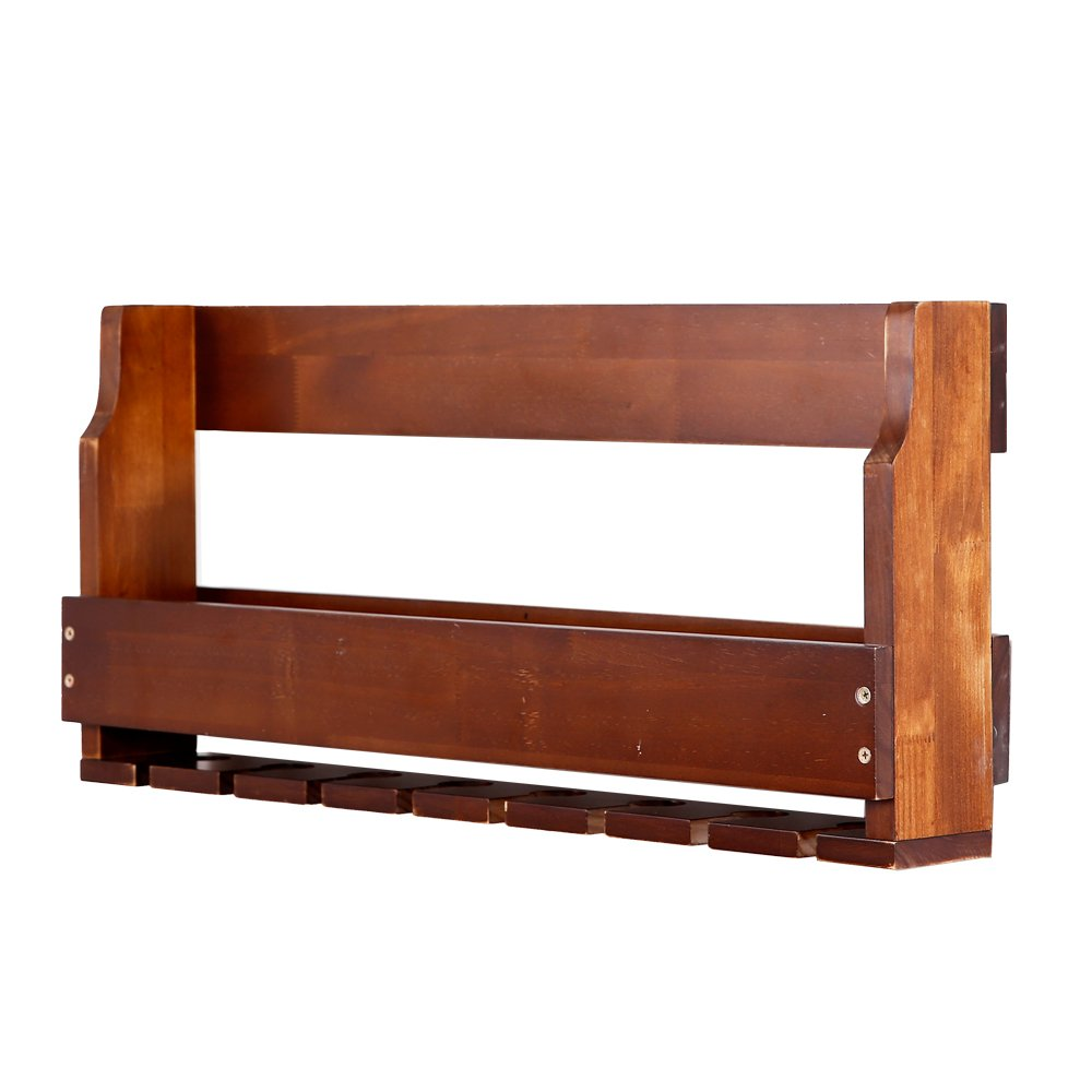 Amazon.com: MallBoo Wall Mounted Wine Rack /Cabinet Pine Wood Wine Shelf with Glass Holders and Bottle Grids for Wall Decor/Art (31.5-inch, Rustic): Home & ...