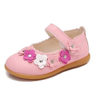78a16d86a8d6b CCZZ Bebe Fille Flat Princess Chaussures Enfants Semelles Souples Mary Jane  Ballerine Floral Décor Casual Chaussures