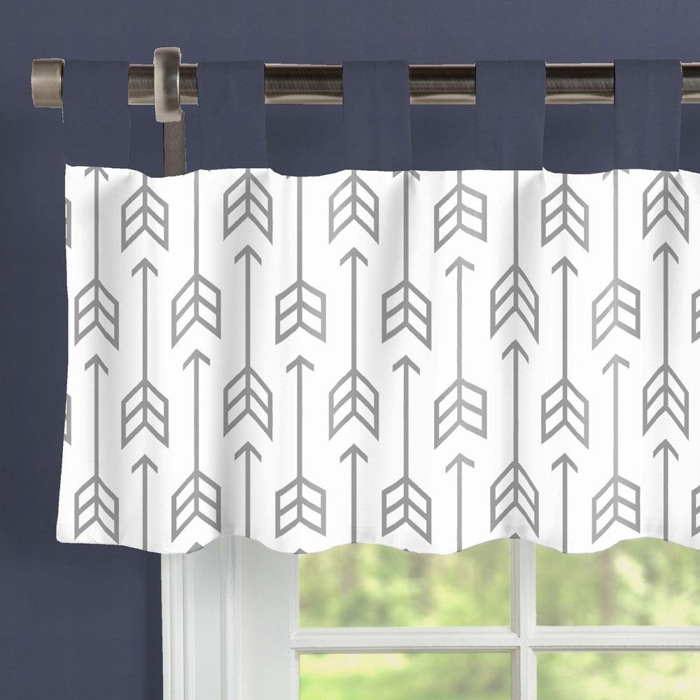 Carousel Designs Cloud Gray Arrow Window Valance Tab-Top by Carousel Designs