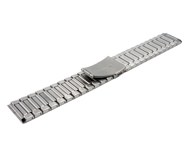 24mm Reemplazo Pulsera de Acero Inoxidable Banda de Muñeca para Sony SmartWatch 2 SW2 (Plateado A)