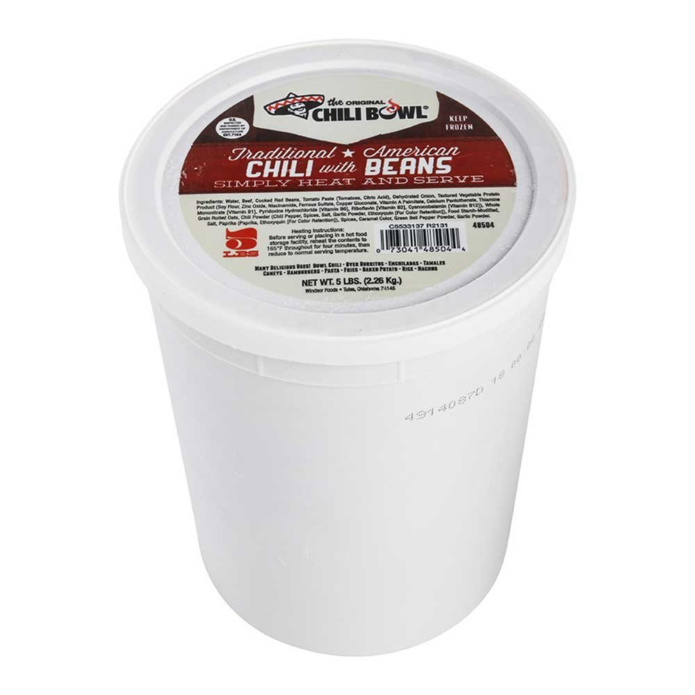 Original Chili Bowl Traditional American Chili with Beans - 5 lb. tub, 6 per case by Windsor