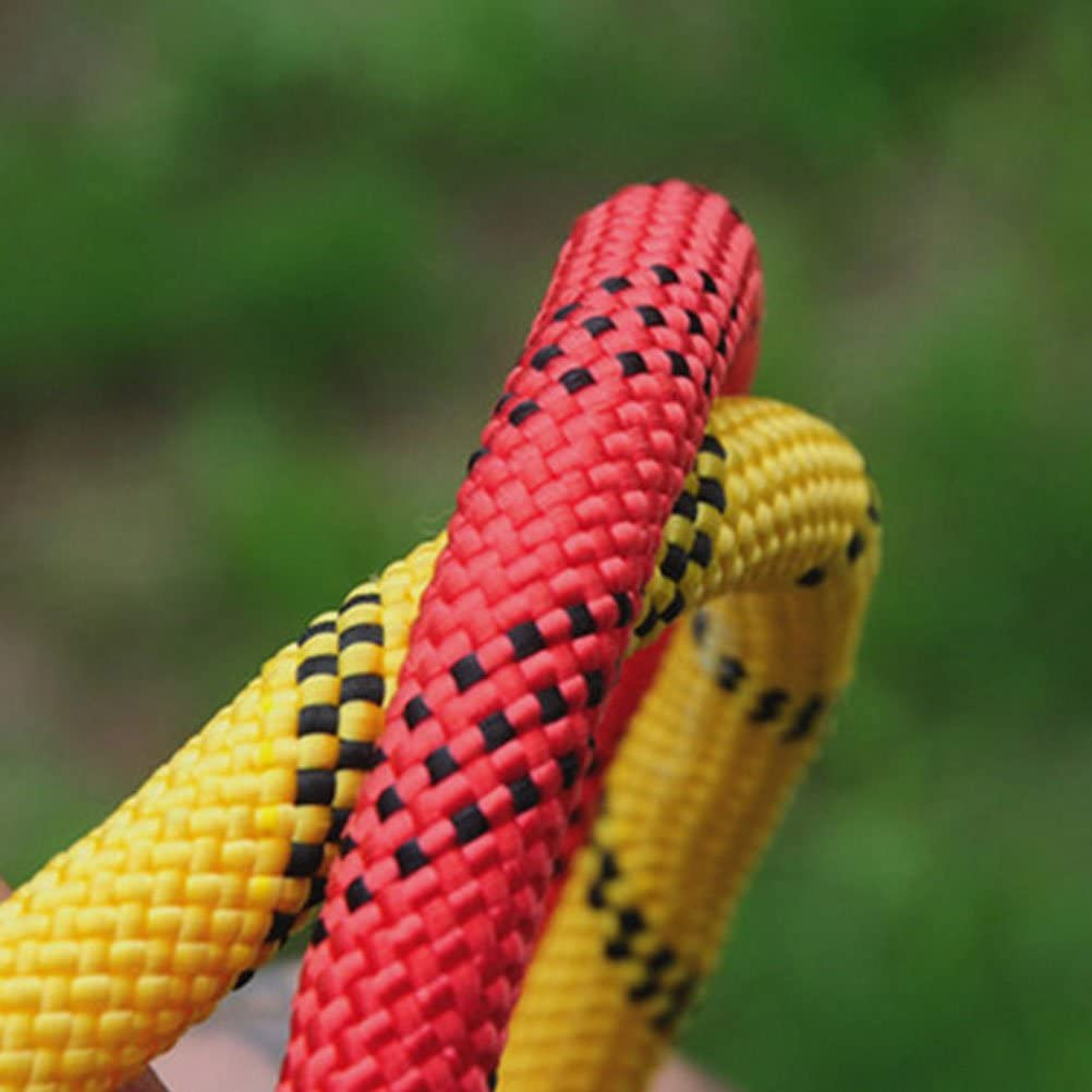 Aoneky 10 mm Static Outdoor Rock Climbing Rope Fire Escape Safety Rappelling Rope