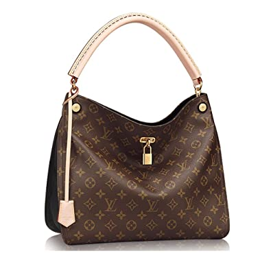 1fe67433443e2 Authentic Louis Vuitton Monogram Gaia Shoulder Handbag Article M41621 Noir  Made in France  Handbags  Amazon.com