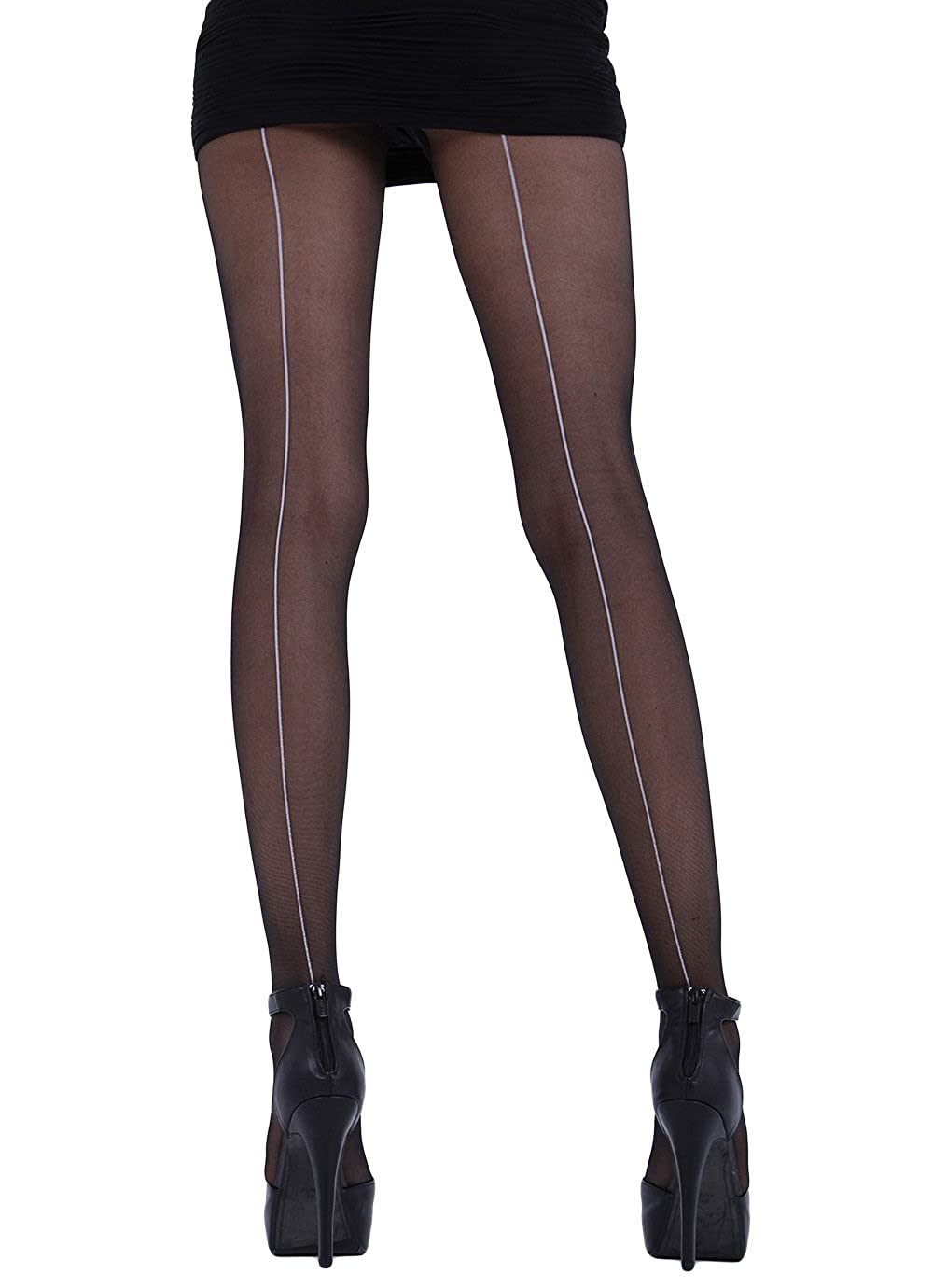 fa6c52f90 Cecilia de Rafael Hyde Park Back Seam Tights XL Available  Amazon.co.uk   Clothing