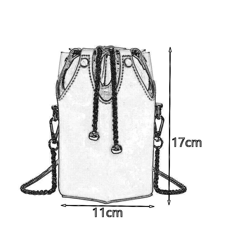 Color : Red Creative Wild Casual Chain Handbag Fashion Diagonal Personality Small Port Wind Three-Dimensional Bucket Bag 3 Colors Optional Crossbody Bag Xiao Jian Shoulder Bag PU