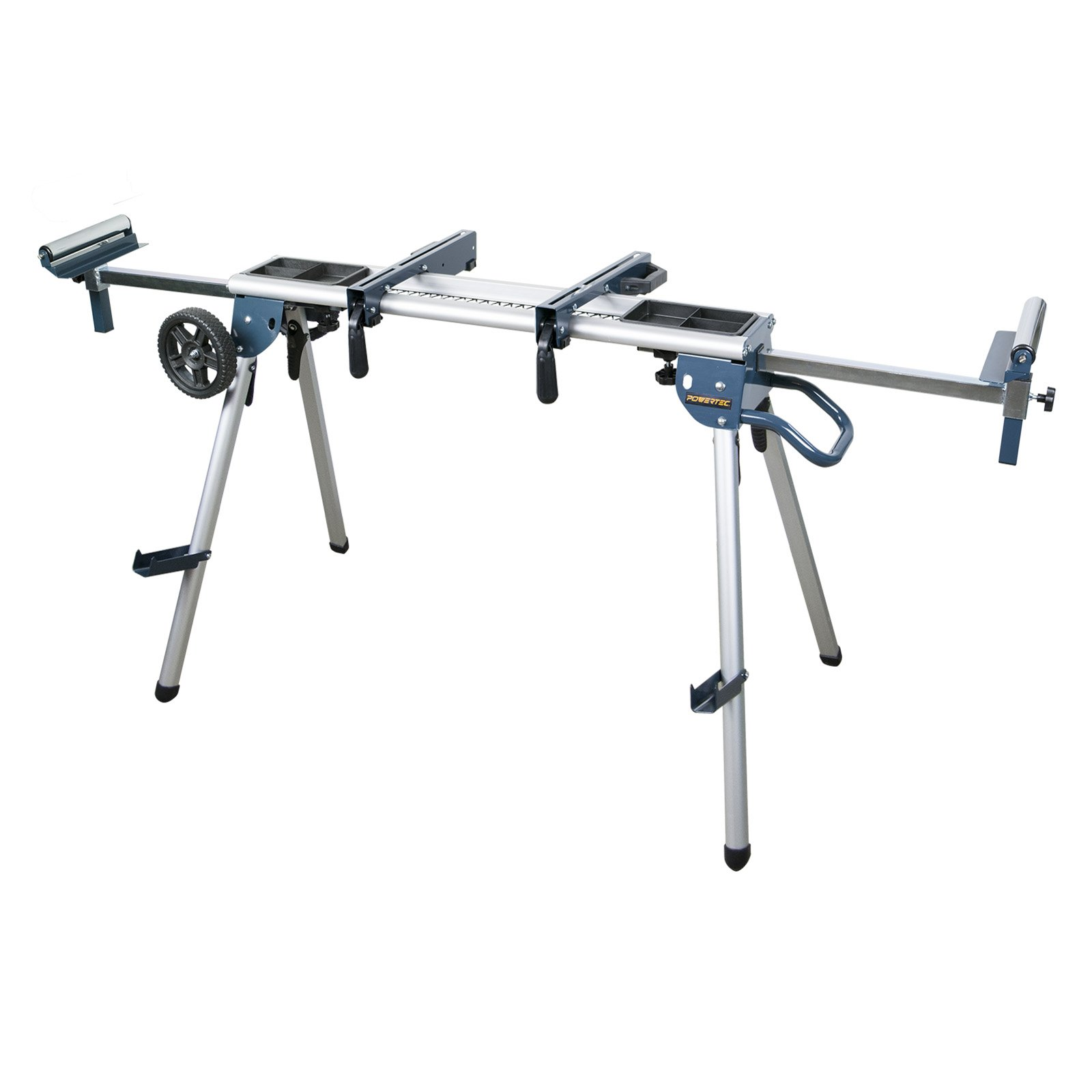 POWERTEC MT4008 Deluxe Rolling Miter Saw Stand with Trays by POWERTEC