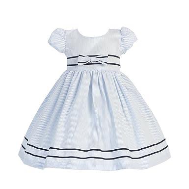 273eaf2a8683 Amazon.com  Lito Light Blue Stripe Short Sleeve Seersucker Easter ...
