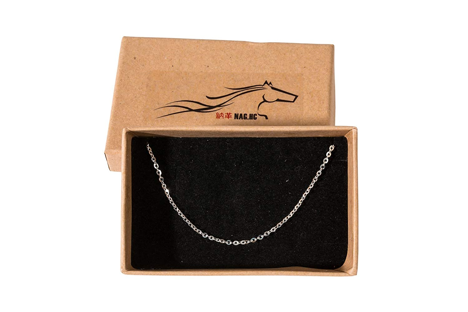 Italian Necklace Chain 18 NAGHC 925 Sterling Silver Chain 1.5MM Sparkly Cable Chain Super Shiny/& Strong Lovely Chain