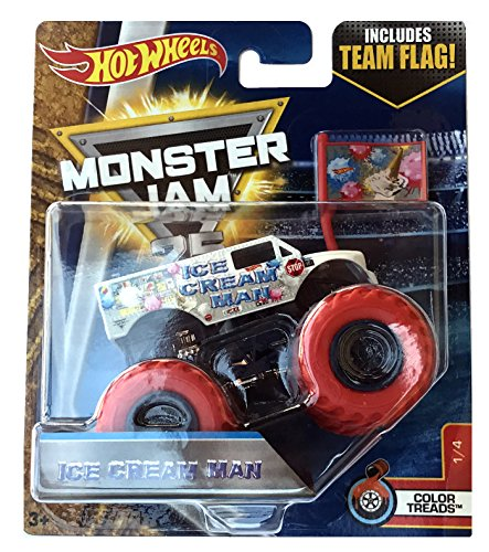 Monster Jam Hot Wheels 1:64 Scale - Ice Cream Man 2017 Color Treads 1/4 for $<!--$29.99-->