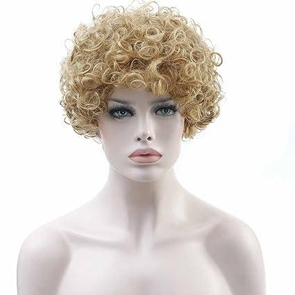 shangke peluca afro Kinky rizado peluca de pelo corto para mujer negra barato pelucas para African