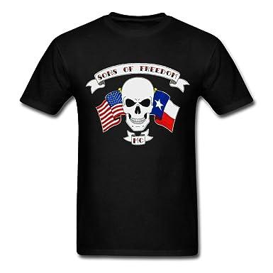d5e2a95cc3d6 Sons of Freedom MC logo graphic Men s Tshirt Cool Style XXXX-L ...