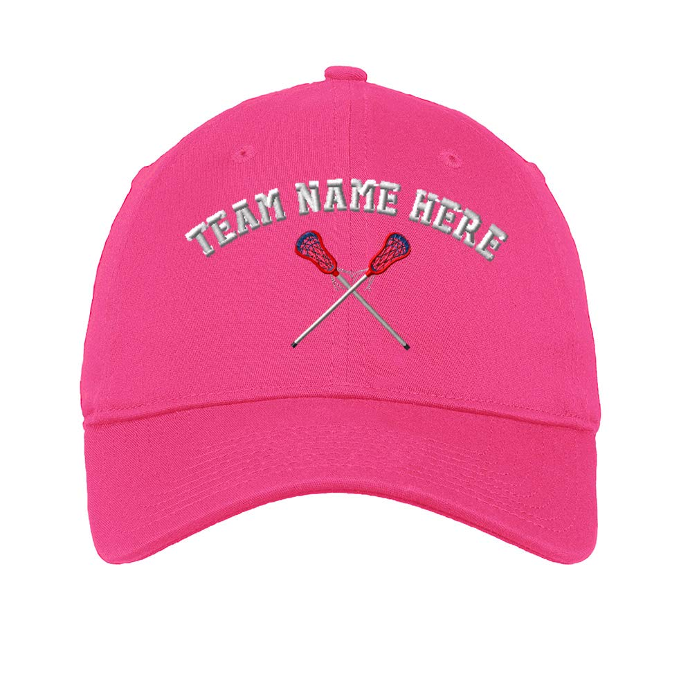 Custom Low/Profile/Soft Hat Lacrosse Sports D Embroidery Team Name Cotton