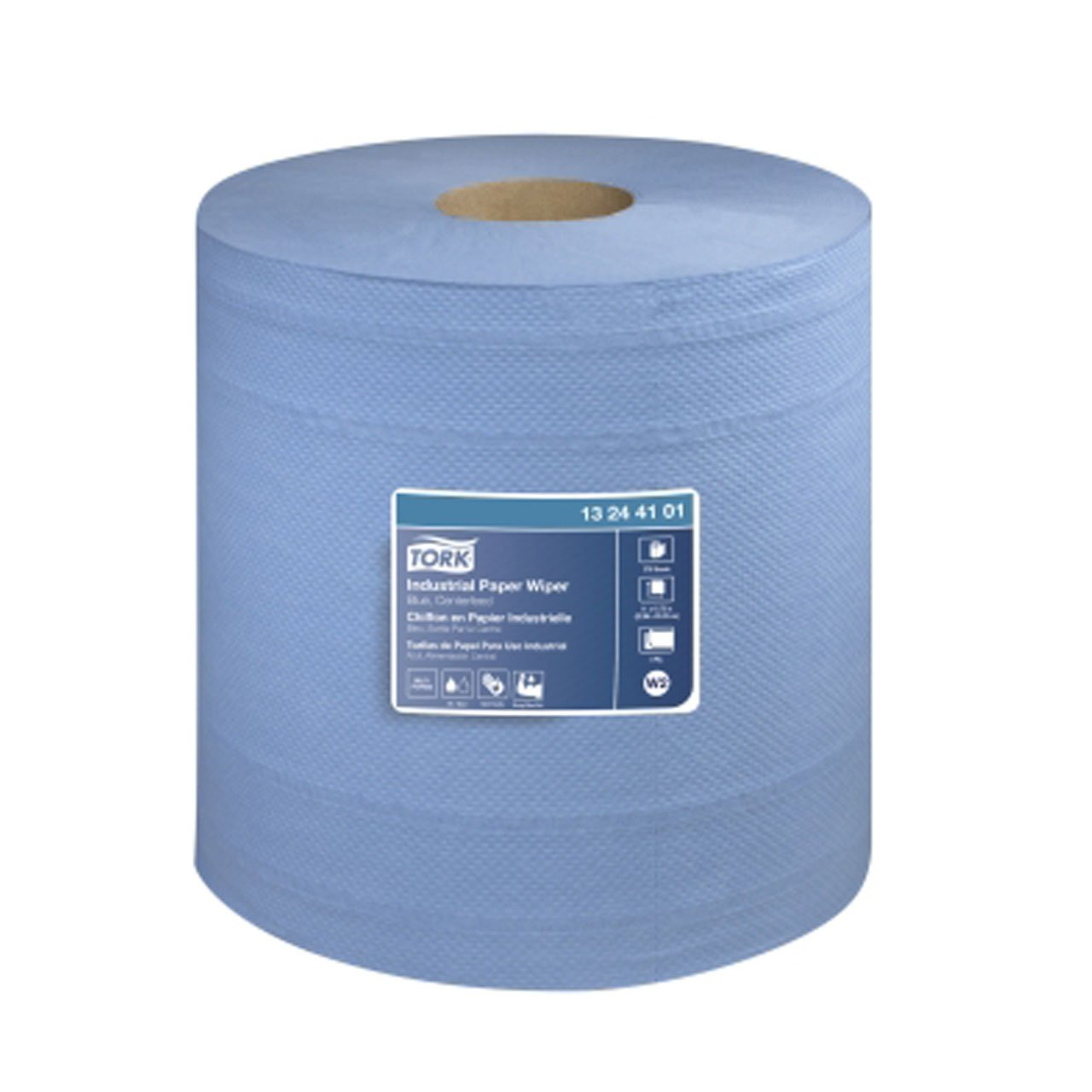 Tork 13244101 Industrial Centerfeed 4 Ply Paper Wiper Blue