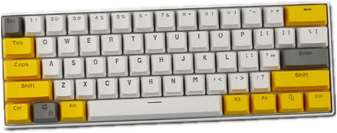 Sunzit Keycaps, 61 Teclas Keycaps Backlight Tres Colores ...