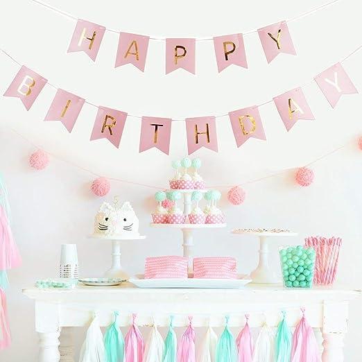 Xenborg Happy Birthday Feliz CUMPLEAÑOS Guirnalda Set ...