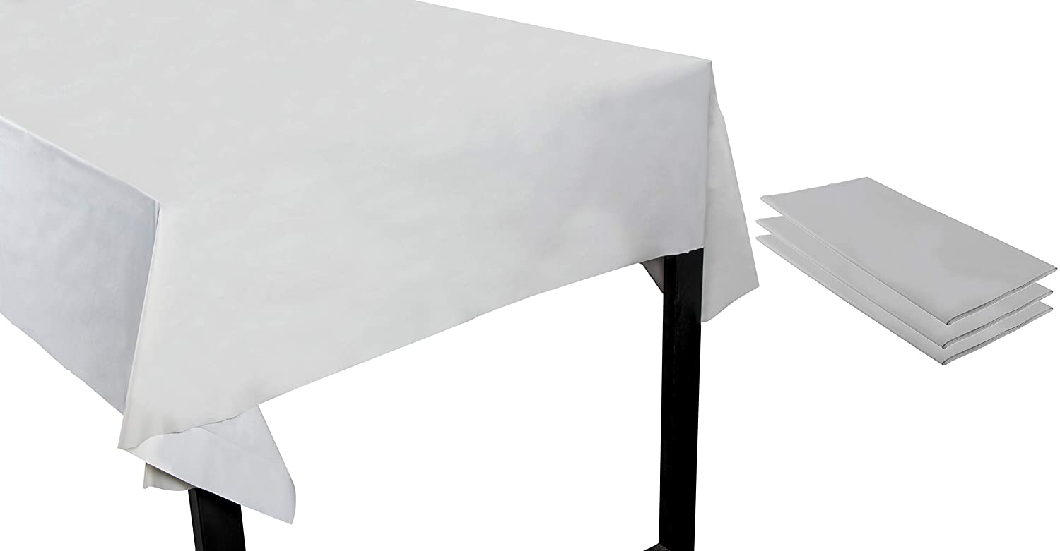 Long Picnic Tables 4.5 x 9 Feet 6-Pack 54 x 108-Inch Rectangle Red Disposable Table Cover for Buffet Fits up to 8-Foot Tables Valentines Day Party Decoration Supplies Red Plastic Tablecloth
