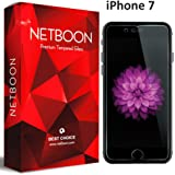 Apple iPhone 7 Tempered Glass - NETBOON® Original Tempered Glass HD Clarity Premium Quality Screen Protector, 9H Hardness, Ultra thin, Anti-Scratch Branded Screen Protector Gorilla Glass Guard for iPhone 7