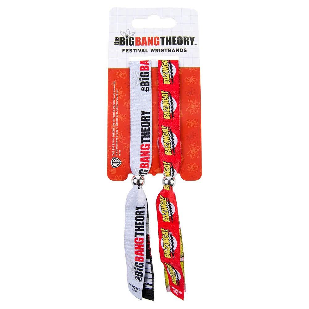 Big Bang Theory Logo and Bazinga Double Festival Wristband Set