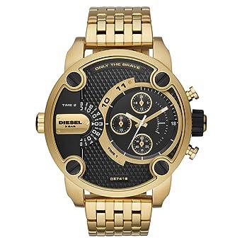 Diesel Reloj Analógico para Hombre de Cuarzo con Correa en Acero Inoxidable DZ7412: Amazon.es: Relojes