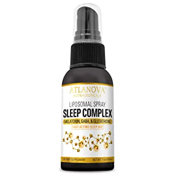 Liposomal Sleep Complex Spray with Melatonin, GABA, Glutathione by ATLANOVA® 1 oz 30