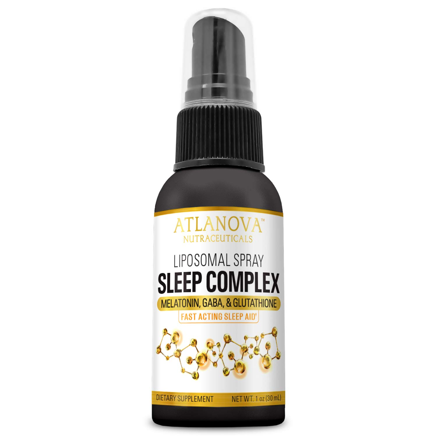 Amazon.com: Liposomal Sleep Complex Spray with Melatonin, GABA, Glutathione by ATLANOVA 1 oz 30 ml 30 Servings Liquid Fast Acting, Natural Sublingual Better ...