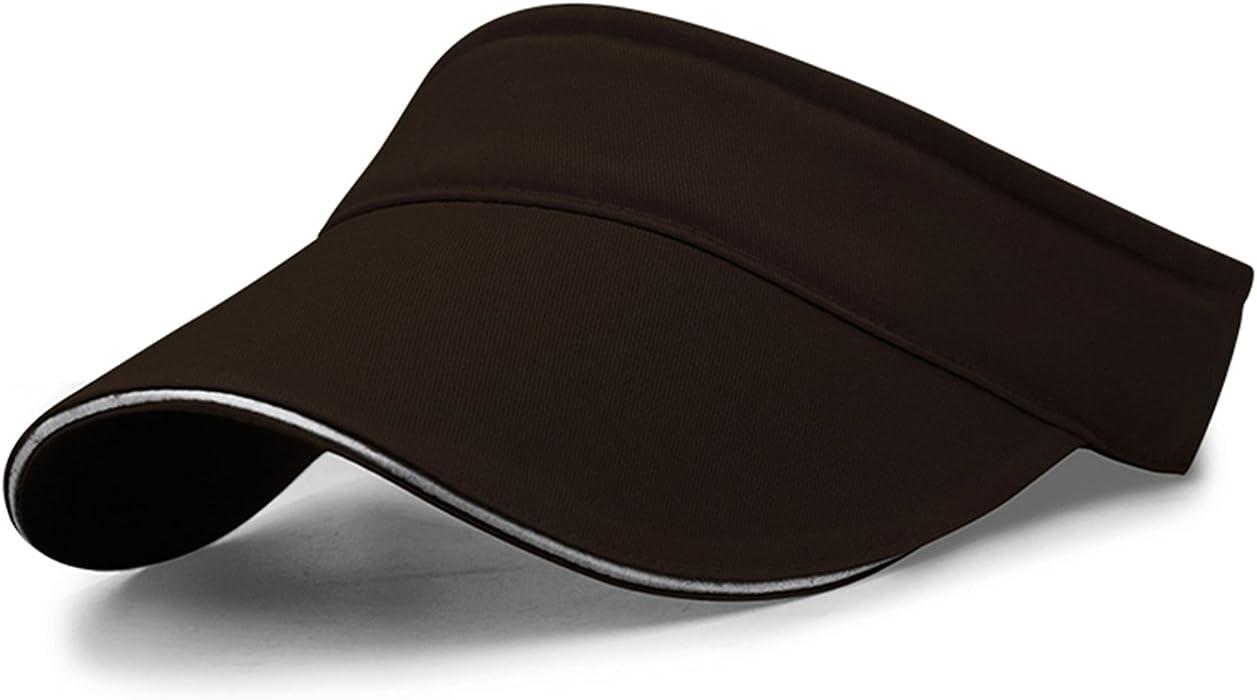 2594aac2c4ded Corettle サンバイザー 無地 綿 幅広つば10.5cm キャップ メンズ UVカット 帽子 バイザー キャップ