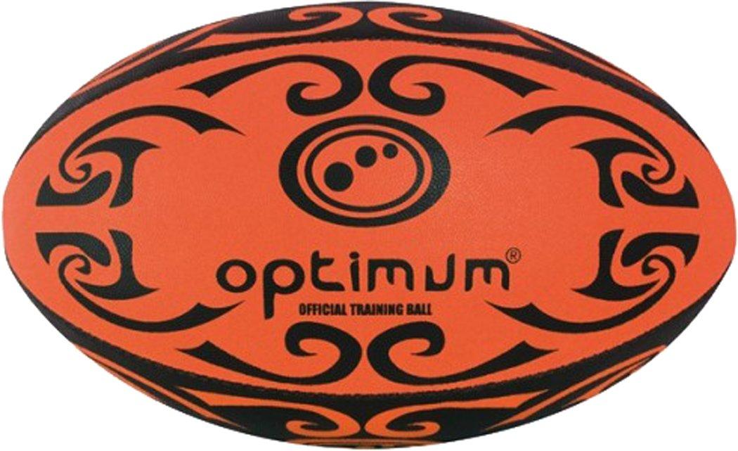 Optimum TribalラグビースポーツクラブリーグMatch Play Hand Stitchedトレーニングボール B01G6SURNE オレンジ/ブラック 5