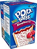 Pop-Tarts Breakfast Toaster Pastries, Frosted Raspberry Flavored, Bulk Size, 96 Count (Pack of 12, 14.7 oz Boxes)
