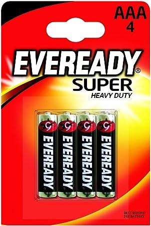 Eveready EVR03SUPERB4 - Pack de 4 pilas (AAA), color plateado: Amazon.es: Electrónica