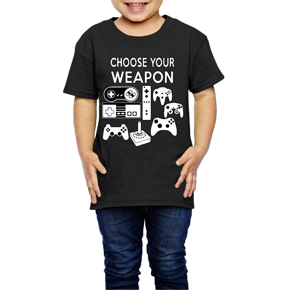 XYMYFC-E Choose Your Weapon Gaming Console 2-6 Years Old Kids Short-Sleeved Tee Shirts