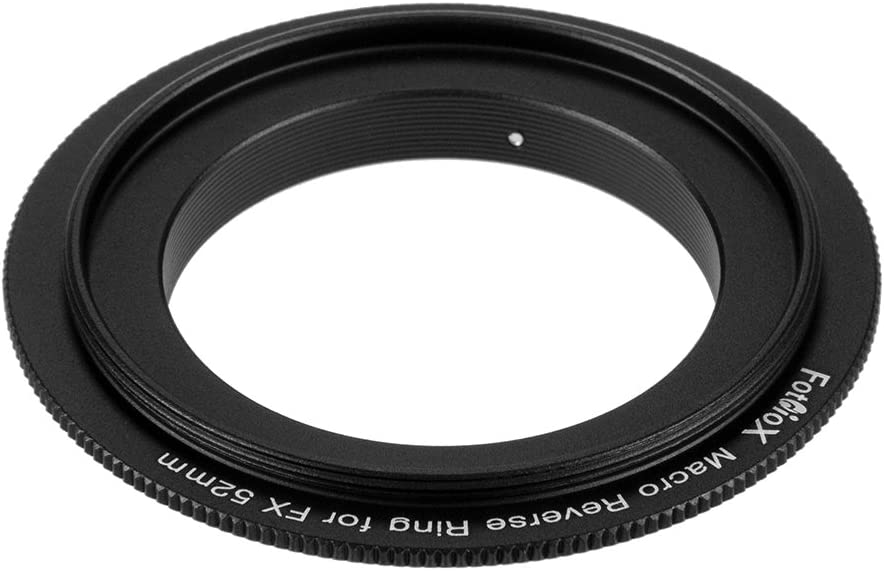 Fotodiox 52mm Filter Thread Macro Reverse Mount Adapter Ring Compatible with Fuji X-Mount Cameras