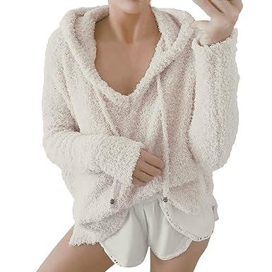 Pullover Sweatshirt Damen Kapuzenpullover Hoodie Langarmshirt Kapuzenpulli  Jacke Pullovershirt Sweatjacke Outwear Pulli Long Shirt Oberteile Hoodies fbe0b2129a