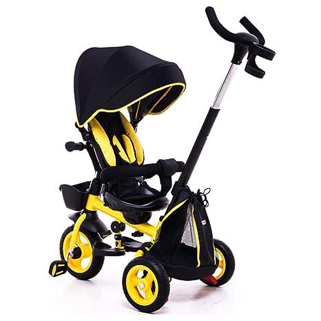 TH Triciclo Carro De Bebe Triciclo Baby 4 In1 con Barra De Empuje ...