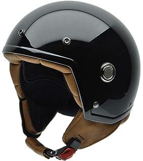 NZI 050271G445 Tonup Black Casco de Moto, Talla S