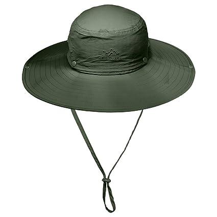 94545087b90 Amazon.com   HUIJIE Outdoor Waterproof Boonie Hat
