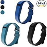 For Fitbit Flex Strap,SnowCinda 3PCS Adjustable Silicone Replacement Accessories Band with Clasps For Fitbit Flex Wireless Activity Tracker and Sleep Wristband