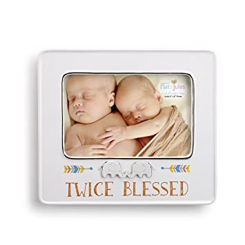 Amazon.com : Demdaco Baby Frame, Twice Blessed : Baby