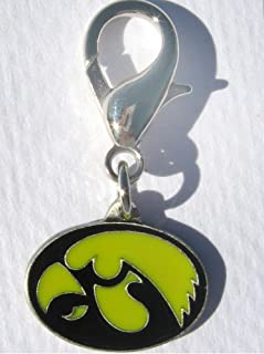 product image for Diva-Dog NCAA 'Iowa Hawkeyes' Licensed College Team Dog Collar Charm
