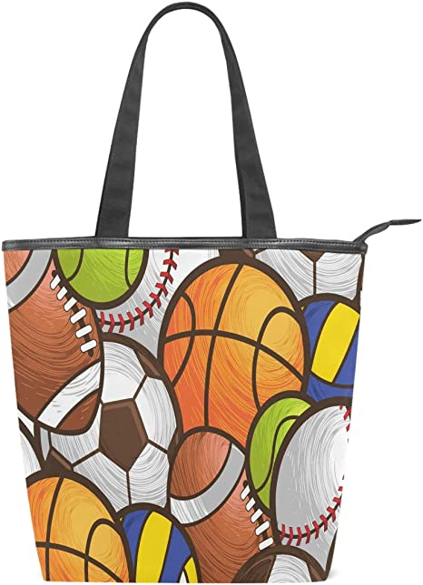 Canvas Shopping Tote Bag Soccer Player Sports Game Beach Bags for Women
